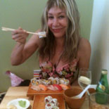 Sharon at Kome Sushi Kitchen in Austin Texas