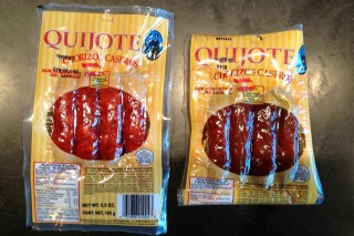 Comparing a new and one year old package of Chorizos Caseros